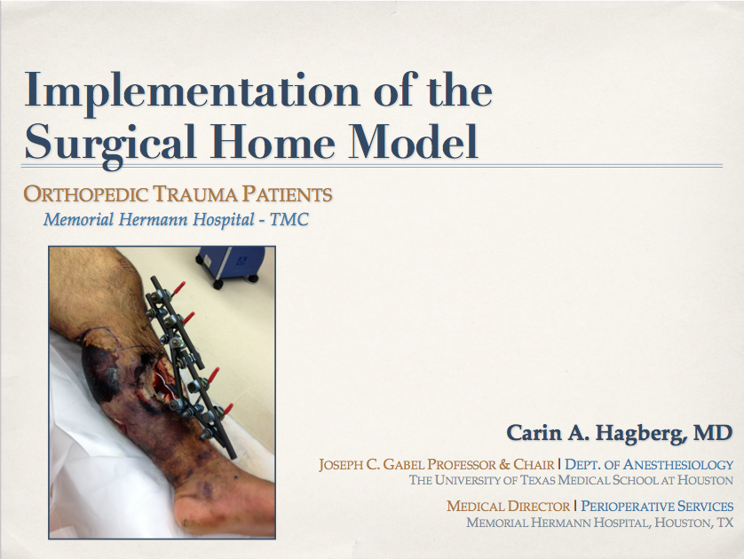 Surgical Home Model -