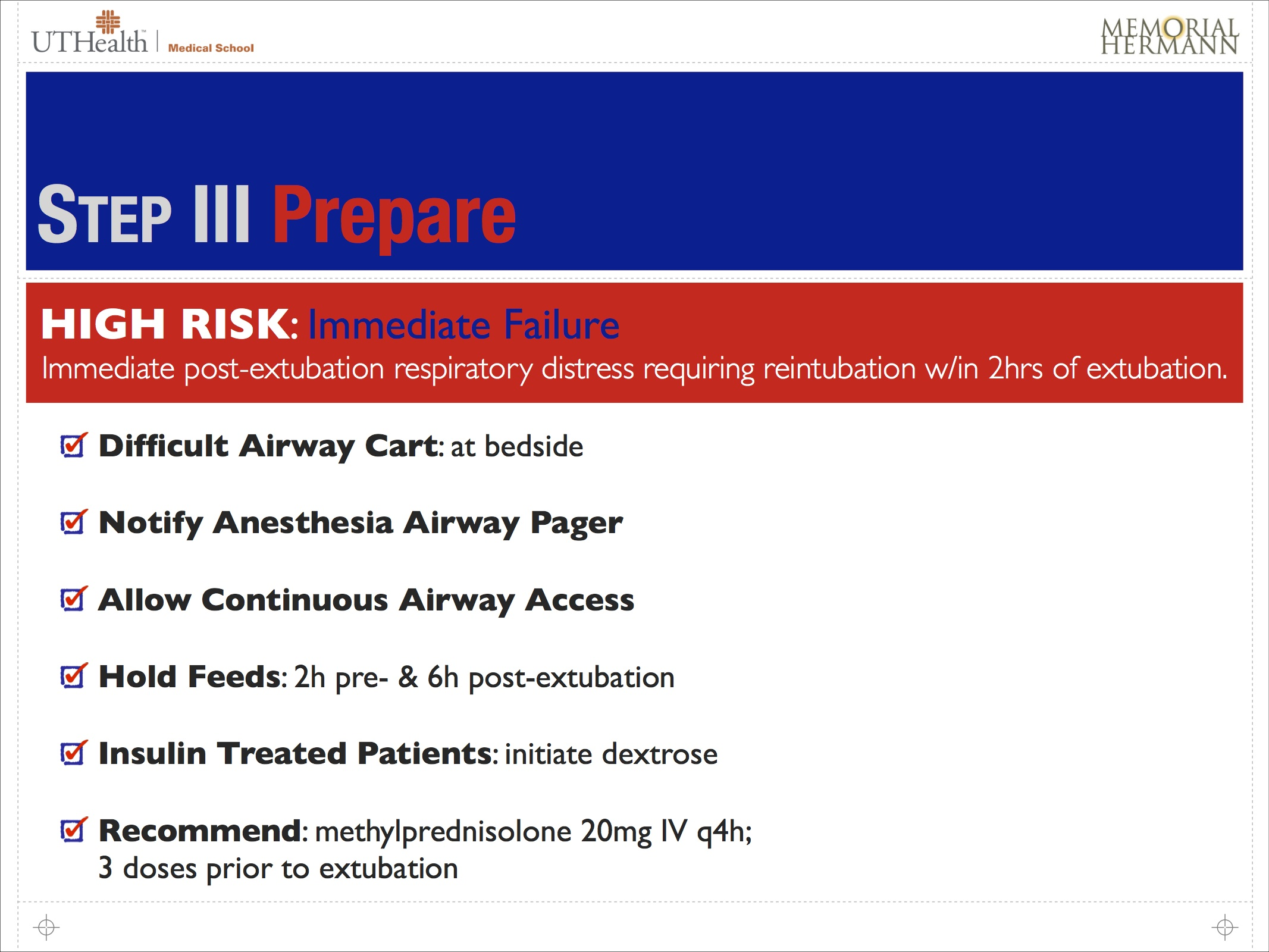 ICU Extubation Screening Guidelines -