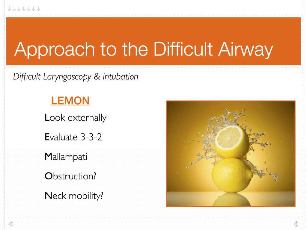 Difficult Airway Mnemonics Sara Slabisak Md Resume Blog